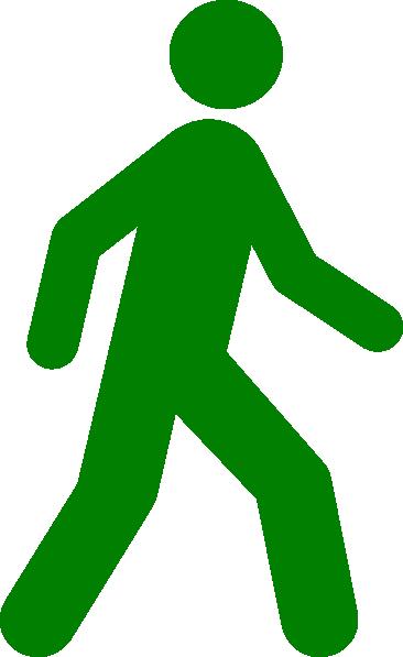walking man green clip art at clker com vector clip art online rh clker com clipart walk the dog clipart walk to school