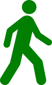 Walking Man Green Clip Art