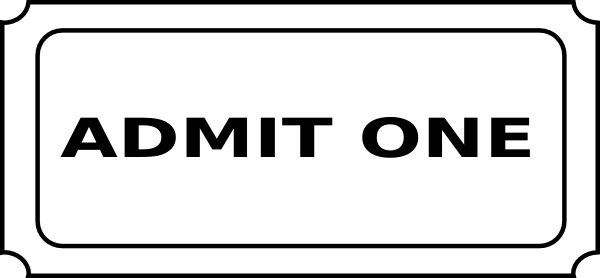 admit one ticket clip art at clker com vector clip art online