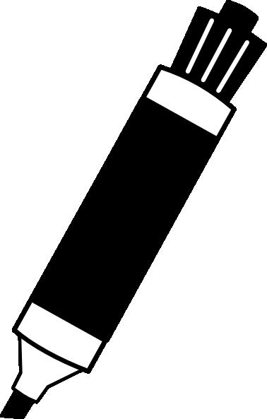 Black Dry Erase Marker Clip Art At Clker Com Vector Clip