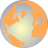 Orange And Blue Globe 2 Clip Art