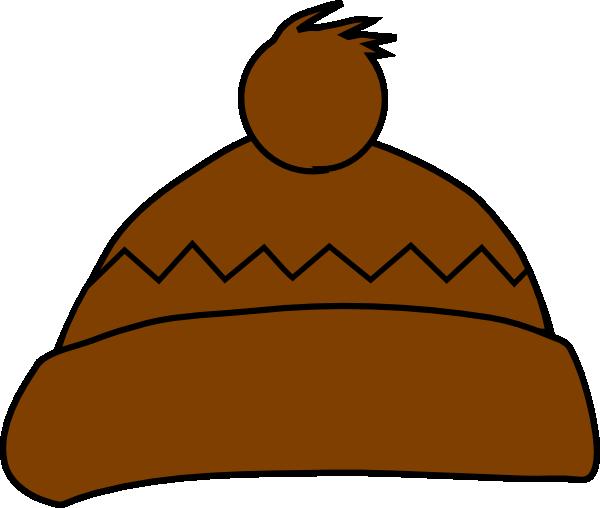 840244dd4d8 Brown Winter Hat Clip Art at Clker.com - vector clip art online ...