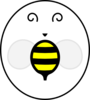 Bee Sticker - Front Board Clip Art