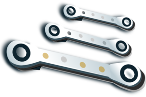 Ratchet Spanner Set Clip Art