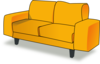 Yellow Couch Clip Art