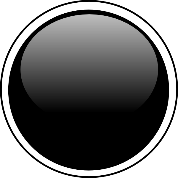Glossy Black Circle Button Clip Art at Clker.com - vector ...