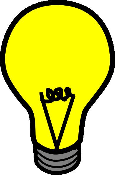 Yellow Light Bulb Clip Art at Clker.com - vector clip art ...