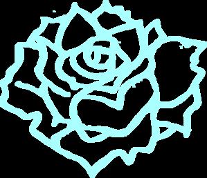 Light Blue Flower Clip Art