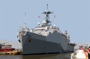 Uss Ponce (lpd 15) Returns To It Clip Art