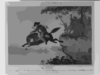 Heroic Cowboy Jump With Horse Clip Art