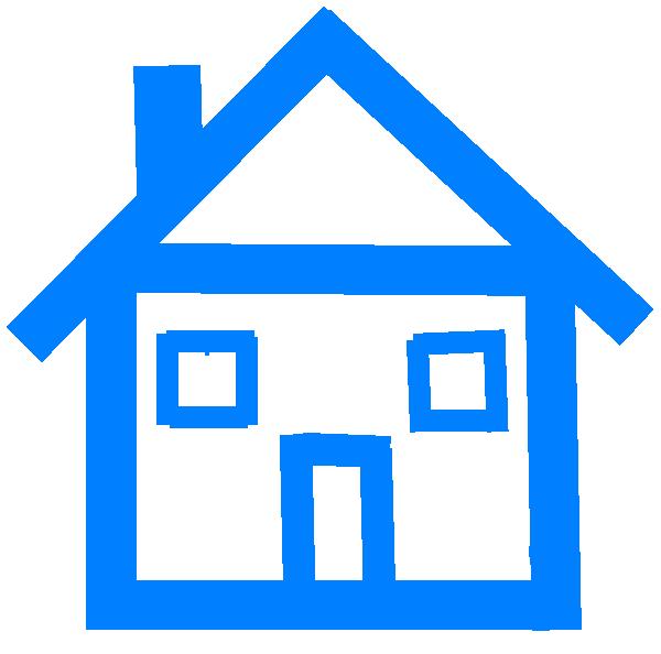 clip art blue house - photo #15
