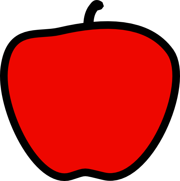 red apple clipart - photo #22