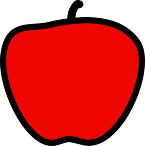 Red Apple - Solid Red Clip Art