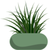 Potted Grass Clip Art