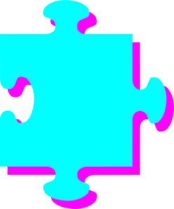 Turquoise Pink Puzzle Clip Art