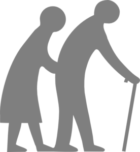 Senior Citizen (blue) Clip Art