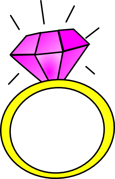 Pink Diamond Ring Clip Art at Clker.com - vector clip art ...