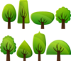 Simple Trees Clip Art