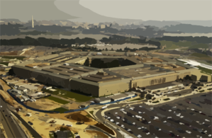 Aerial View Of The Pentagon Clip Art