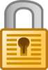 Padlock With Keyhole Clip Art