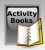 Activity Books Button Clip Art
