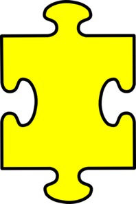 Puzzle Piece Yellow Clip Art