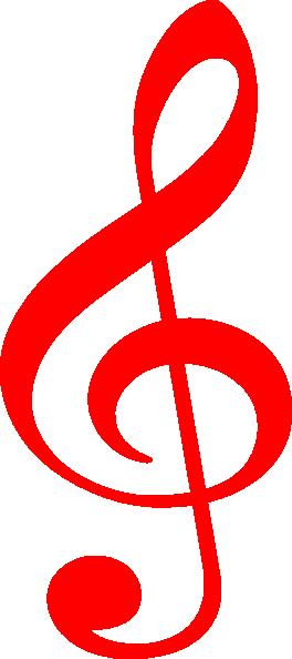 treble red clip art at clker com
