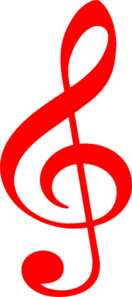 Treble Red Clip Art
