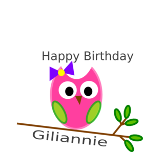 Birthday Owl Gili Clip Art