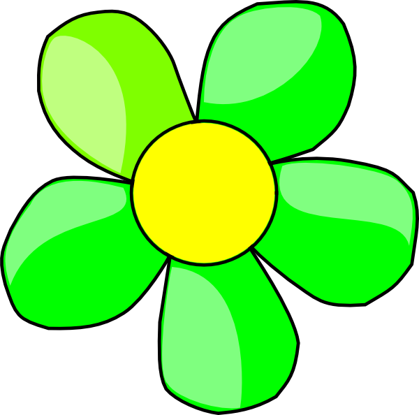 free green flower clipart - photo #2