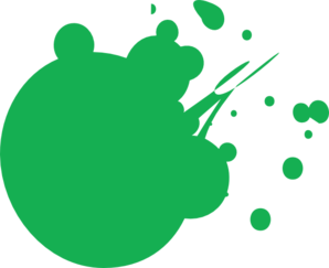 Green Dot Splat Clip Art