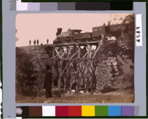 Bridge On Orange & Alexandria [virginia] Railroad, As Repaired By Army Engineers Under Colonel Herman Haupt Clip Art