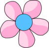 Daisy Pink And Blue Clip Art