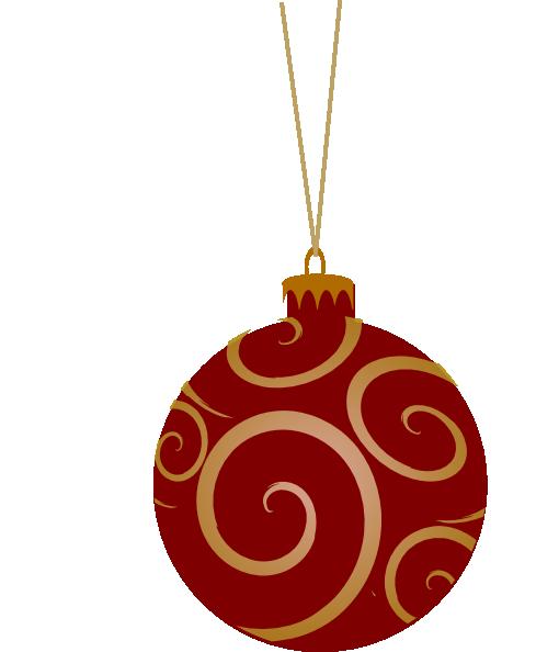 Shepherd Gold On Blue Silhouette Ornament: Red Metallic Ornament Clip Art At Clker.com