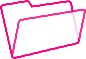 White And Pink Folder Clip Art