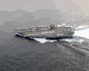 Uss Abraham Lincoln (cvn 72) Spells Out  Ready Now  On The Ship Clip Art