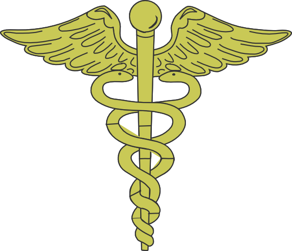 Gold Caduceus Clip Art at Clker.com - vector clip art ...