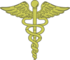Gold Caduceus Clip Art