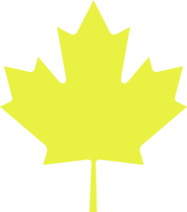 Yellow Maple Leaf Clip Art