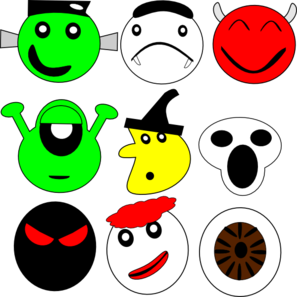 Scarey Faces Clip Art
