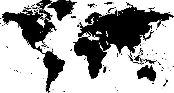 World Map Silhouette Clip Art At Clkercom Vector Clip Art - Map silhouette