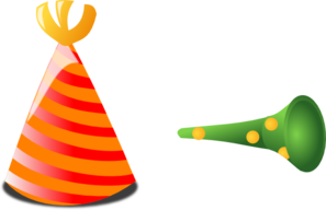 Birthday Hat And Horn Clip Art