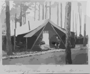 Headquarters, Army Of Potomac - Brandy Station. Officers Quarters Clip Art