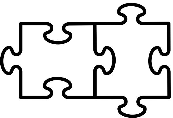 2 Puzzle Pieces Connected Clip Art at Clker.com - vector ...