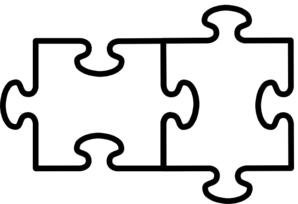 2 Puzzle Pieces Connected Clip Art