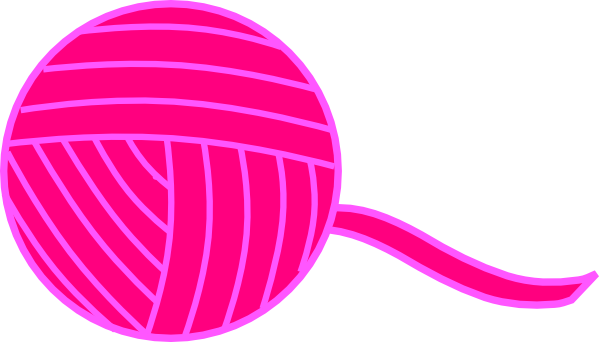 Pink Ball Of Yarn Clip Art at Clker.com - vector clip art ...