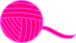 Pink Ball Of Yarn Clip Art