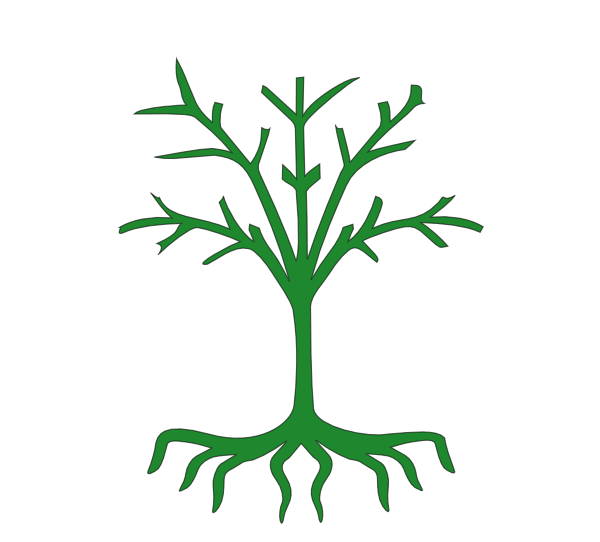 tree with roots clip art at clkercom vector clip art