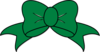 Green Bow Clip Art