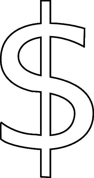 White Dollar Clip Art at Clker com - vector clip art online